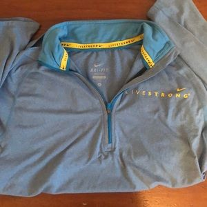 Light blue Nike DriFit livestrong quarter zip
